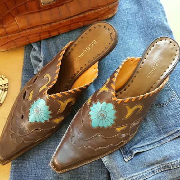 d40d02c414b42 BCBGirls Shoes | Cowboy Slides | Poshmark